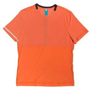 LULULEMON Men's Running/Yoga/Workout Shirt Orange